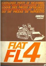 Fiat Crawler Tractor FL4 Parts Manual