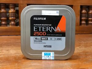 fuji fujifilm 16mm ETERNA 250D 8663 400ft (122m) motion picture film (seal)