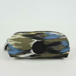 KIPLING ANTHONY Nylon Pouch Cosmetic Case Camo Charm