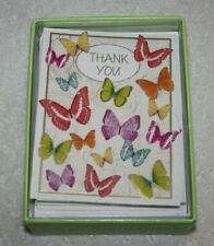 Design Thank You Note Card Notecards Butterflies and Swirl Pattern (20 pcs) New