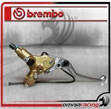 Pompa freno anteriore Brembo Serie Oro PSC 16 tangenziale assiale con switch