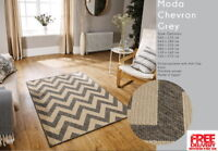 Moda Chevron Flatweave Utility Mats Kitchen Rugs Hall Runners Grey Anti Slip Gel
