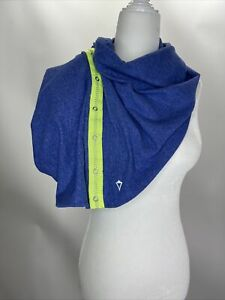 Ivivva Girl's Village Chill Blue Lime Snap Up Multi-Wear Wrap Scarf One Size