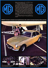 MG MGBGT 1972 RETRO POSTER A3 PRINT FROM CLASSIC ADVERT