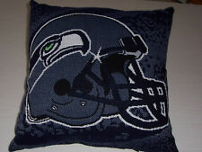 """NEW SEATTLE SEAHAWKS JACQUARD/TAPESTRY 19"""" x 19"""" PILLOW"""
