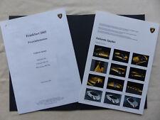 Lamborghini Gallardo SE Murcielago - Pressemappe CD-Rom press-kit IAA 09.2005