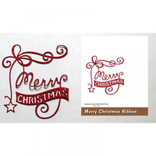 Merry Christmas Words Metal Stencil Cutting Dies for 3D Card Making Decoration