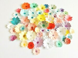 Mixed Flowers Papercraft Embellishments Floral Scrapbooking Card Making Crafts