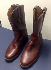 Reyme Brown Leather Cowboy / Work Boots M 7.5D / W 9.5D / 26.5 Medium -VERY NICE