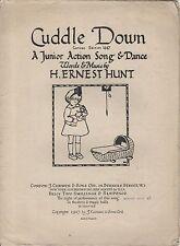 "VINTAGE DI SPARTITI MUSICALI - ""CUCCE DOWN"" - Song & Dance per bambini-H. Ernest Hunt"