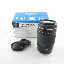 Minolta AF Zoom 75-300 1:4.5-5.6 (D) Objektiv / lens mit OVP