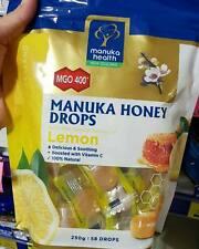 Manuka Health Manuka Honey MGO 400+ Lemon Lozenges Vitamin C 250g- 58 Lozenges