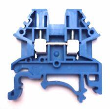 DIN Rail Terminal Blocks 100 Quantity DK2.5N-BL Dinkle Blue 12 AWG 20 A 600 V