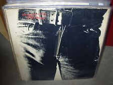 ROLLING STONES / WARHOL sticky fingers ( rock ) zipper - record club - VERY RARE