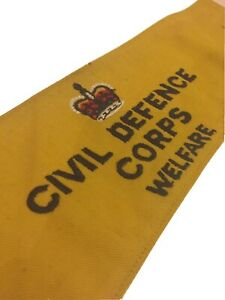 British civil defence corps welfare armband ww2 style queens crown home front