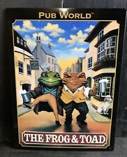 The Frog & Toad TIN SIGN Pub World Retro Style Garage Bar Wall Decor 30x40cm