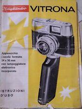 Guida Istruzioni Manuale Voigtlander Vitrona Fotocamera Vintage 36mm Italiano
