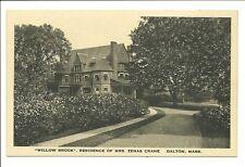 Dalton Mass Willow Brook Residence of Mrs Zenas Crane Unused Postcard MA