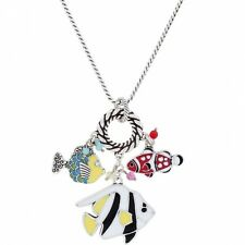 NWT Brighton SEA FROLIC Nautical Charm LONG Multi Color Enamel Necklace MSRP $82