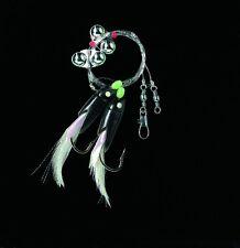 DEGA Dorsch-Vorfach mit Rattle-Beads Hg.6/0 silber/schwarz