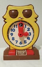 Vintage 1975 TOMY Toy Owl Clock, Teach & Learn To Tell Time - TESTED WORKS
