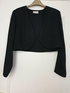 Black Bolero Jacket Size 16
