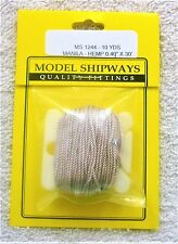 "Model Shipways Fittings MS 1244 Manila-Hemp Rigging .040"" X 30'. 10 YDS Per Pack"