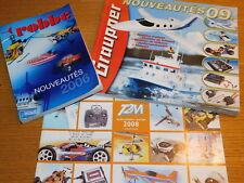 LOT 3 catalogue GRAUPNER ROBBE T2M 2006 2008 2009 PIECES de MODELISME rc CAR