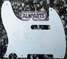 PICKGUARD TELECASTER VINTAGE USA 1ply 5H GAUCHER Blanc Lefty White PG-0560-L25