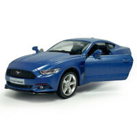 Ford Mustang 2015 1:36 Scale Model Car Diecast Gift Toy Vehicle Kids Matte Blue