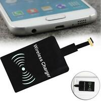 NEW Qi Wireless Charging Receiver Pad for Micro-USB Android Forward Direction T@