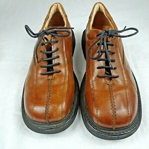 London Underground Mens Tan Leather Casual Oxford Shoes Made In Italy Size 11M