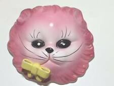 Vintage pink cat ceramic wall pocket made in Japan