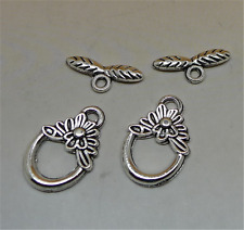 P205 15set Tibetan Silver Toggle Clasps For Necklace Bracelet Clasp accessories