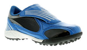 Childrens/Boys Blue Touch Fastening Astro Turf/Football Trainers UK Size