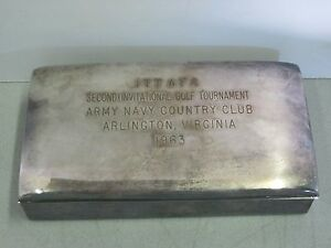 Silver Plate Box 2nd Invitational Golf Tournament Army Navy Country Club 1963
