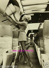 "5"" 7"" Reprint Photo  - BEAUTIFUL PSA AIRLINES STEWARDESS In Aisle"