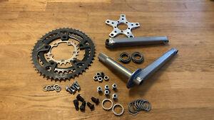 Bullseye 2nd gen MTB, BMX Old School Crankset 175mm Crank Cranks Vintage