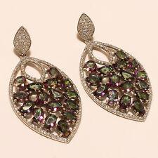 Rainbow Mystic Topaz Gemstone 925 Sterling Silver Earrings Fashion Jewelry Gifts