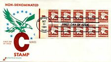 US FDC #1948a C Rate Eagle Pane, Spectrum (0291)