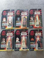 Kenner Star Wars Episode 1 The Phantom Menace Action Figures Lot of 6