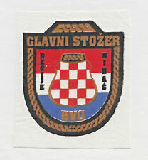 CROATIA ARMY - HVO -  HEADCOMMAND OF BIHAC REGION  - rare war time patch