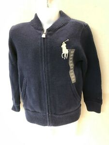 Polo Ralph Lauren Zipper Cardigan Sweater Children 100% Cotton New with Tags