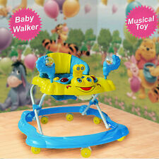 NEW Baby Walker First Steps Push Along Activity Music Ride On Car Toy Music