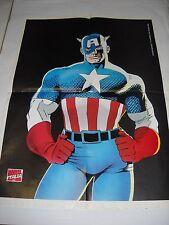 POSTER / MANIFESTO CAPITAN AMERICA - ROGUE X MEN Marvel Italia PROMO 1994