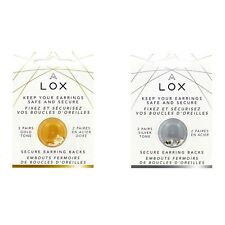 Tip Secure Clasp Earrings Lox, Aloxia. Color Gold 2 Pairs