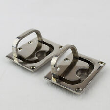 2X Stock Stainless Steel 316 Flush Fitting Lifting Pull Handle Boat Marine