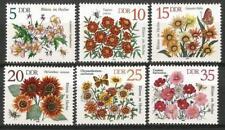 Germany (East) 1982 MNH - Autumn Flowers Marigolds Gazania Sunflower Cosmea