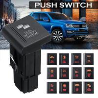 12V Left Push Button Switch Amber/Red LED Work Rear Spot Light BAR For VW  DY