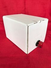 5 x 5 Litre Bag In A Box Wine/Beer/Cider Storage Homebrew Plain White Boxes